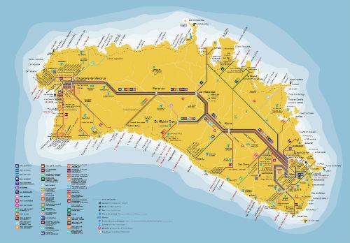 Insel Menorca Karte.Karte Des Streckennetzes Und Der Haltestellen Cime